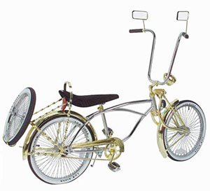 Gold Chrome Low Rider Bike