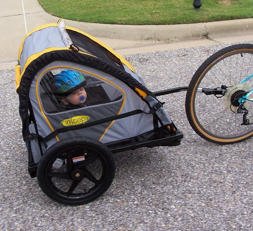 instep double bike trailer